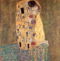 Gustav Klimt's The Kiss 2