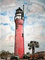 st johns river lighthouse painting