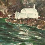 """Santorini III (White Structure)"" by edwardobermueller"
