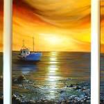 """Boating at Sunset"" by cheriedirksen"