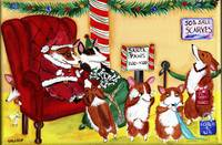 Waiting For Santa Paws     Pembroke Welsh Corgi