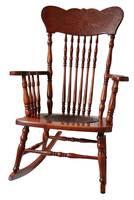 Antique wooden rocking chair