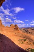 Delicate Arch From the Portal Portrait