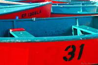 Brightly Colored Boats