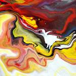 """Abstract Fluid Colour Painting"" by markchadwickart"
