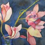"""Pink Flowers"" by janporterfieldwatercolors"