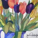"""""""Spring Tulips"""" by janporterfieldwatercolors"""