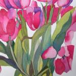 """Pink Tulips"" by janporterfieldwatercolors"