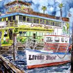 """clearwater florida boat painting"" by derekmccrea"