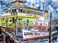 clearwater florida boat painting