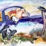 """""""Roadside Attraction"""" by cedarmesaart"""