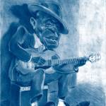 """Jon Lee Hooker- BluesPlayer"" by femiadetunji"