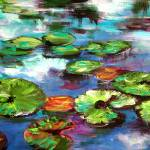 """Sparkling Lily Pond Original Painting by Ginette"" by GinetteCallaway"