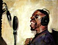 Live Session Vocal Tracks Painting by Ginette