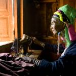 """PadeungWomanSewing"" by johnlund"