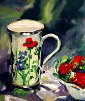 My Favorite Cup - Oil Painting by Ginette