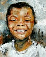 Cute Boy Smiling Ginette Callaway Oil Painting