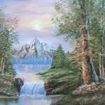 """""""Landscape with mountain"""" by minniti"""