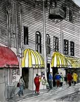 Savannah River Street Cityscape painting 4