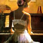 """Beauty with Piano"" by LiLianFineArt"