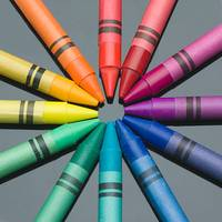 Crayon color wheel
