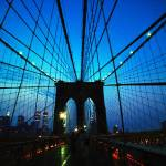 """Brooklyn Bridge Blue"" by Kliman"