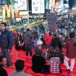 """Times Square Red Stairs"" by Kliman"