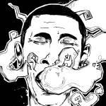 """Obama Smoking"" by graphicsilence"
