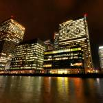 """Canary Wharf lights"" by sergioamiti"