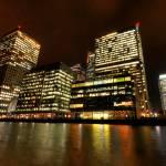 """Canary Wharf lights"" by sergioamiti"