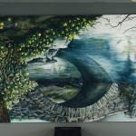 """Central Park 28x15 Oil on Board"" by AnnaGrzesik"