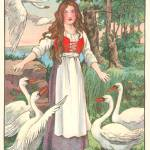 """Elisa and the Wild Swans by Ella Dolbear Lee, 1917"" by arcaniumantiques"