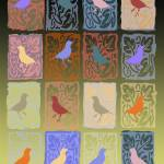 """Merry Finches Quilt"" by eyecontact"