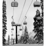 """Alta Chairlift and John Muir"" by deepfrogphoto"