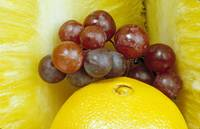 Fruit Oranges Grapes Pineapple
