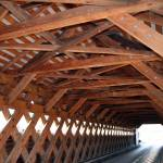 """Covered Bridge Interior Woodwork"" by amrknite"