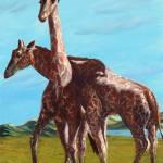 """Lean On Me-Masai Giraffes"" by natswildlifeart"