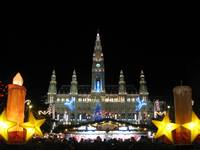 Vienna cityhall and the Xmas market
