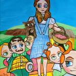 """Dorothy & the munchkins Wizard of Oz Gordon Bruce"" by GORDONBRUCEART"