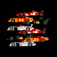 8 Racing Cars - Audi R8, Ferrari F1, Lotus 72...