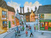 Lowry style townscape by Gordon Bruce