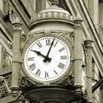 """Marshall Fields Clock, Chicago"" by enigmafoto"