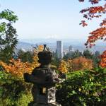 """View of Portland from Japanese Gardens"" by NicoleSolo"