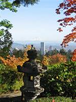 View of Portland from Japanese Gardens