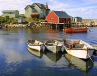 Boats on Peggy's Cove, Nova Scotia