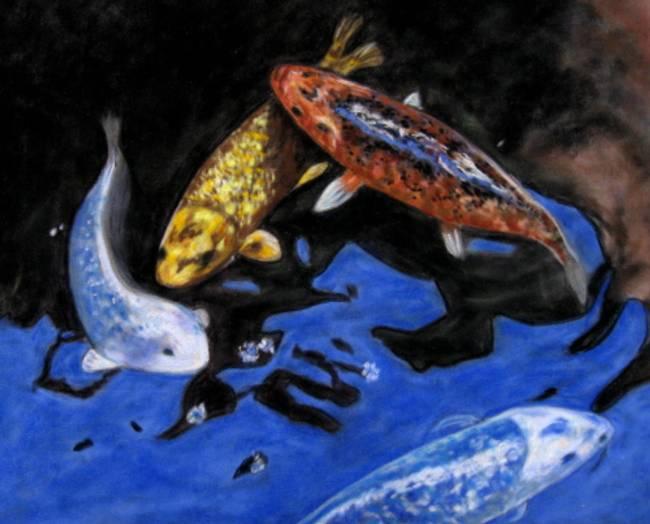 Traditional koi fish artwork for sale on fine art prints for Koi prints for sale