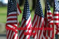 USA6 Flag Row Michelle O Strong Quote Large Red In