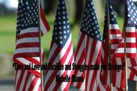 USA6 Flag Row Michelle O Strong Quote Large Black