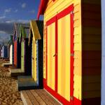 """Colorfull Huts on the beach"" by jiva"
