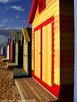 Colorfull Huts on the beach